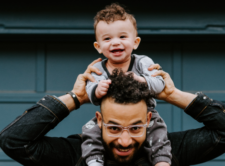 Father's Day - Father with Son on shoulders