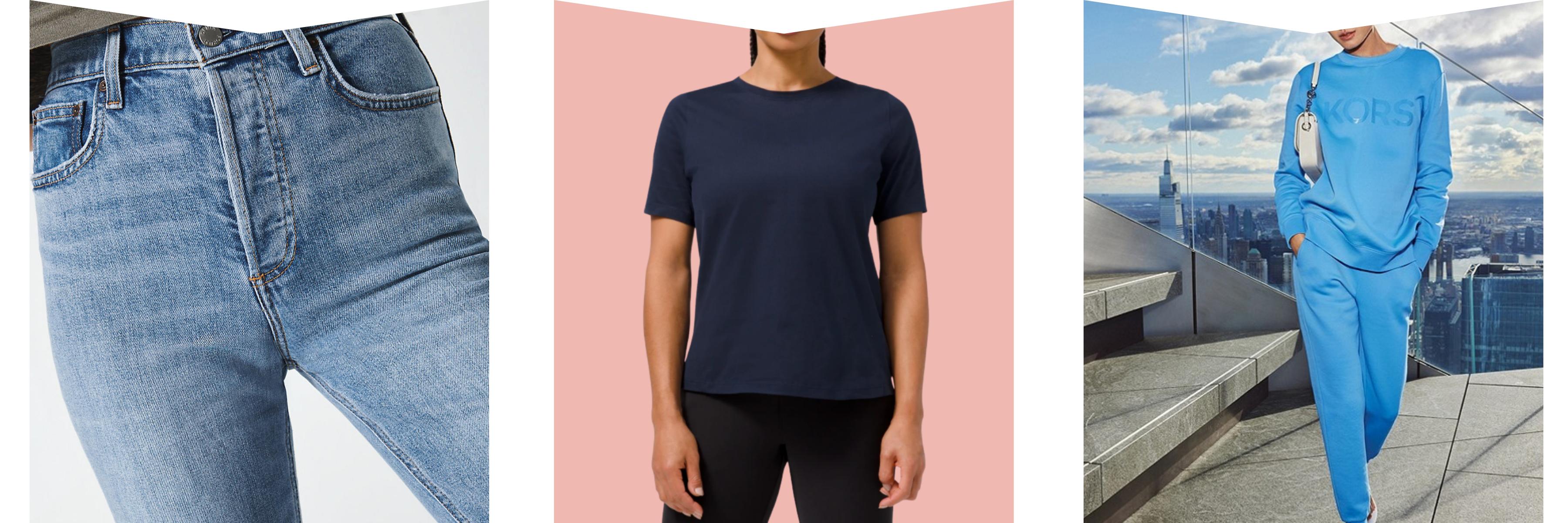 Jeans, organic cotton tee and sweatshirt