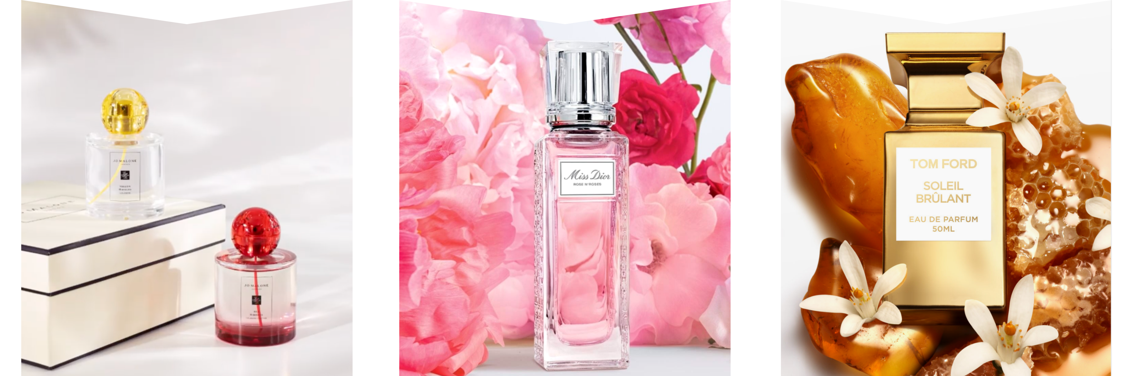 Jo Malone, Dior & Tom Ford perfume