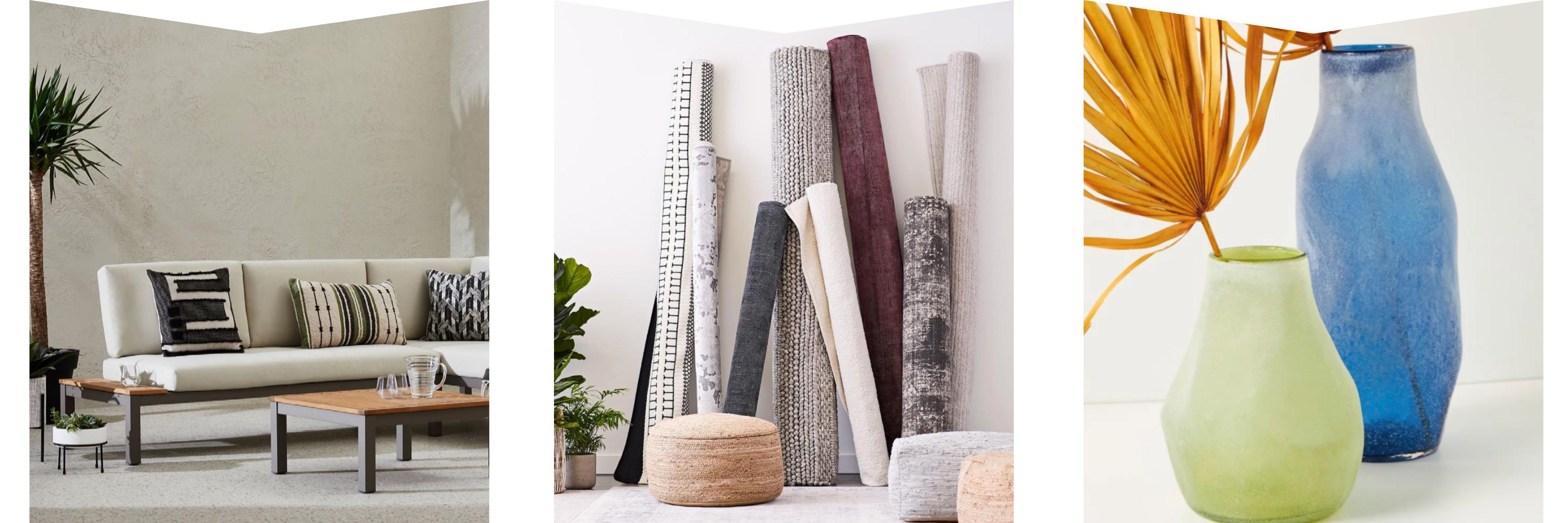 Pillows, carpets & vases from Hudson's Bay