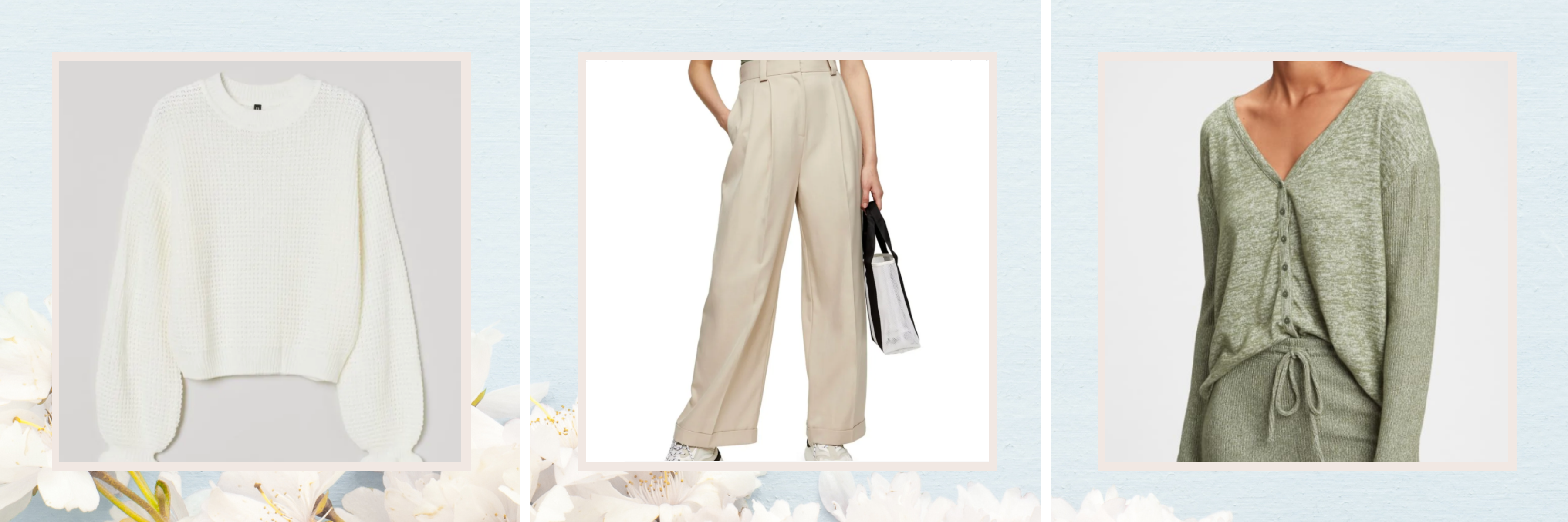 light weight knits and wide-leg trousers