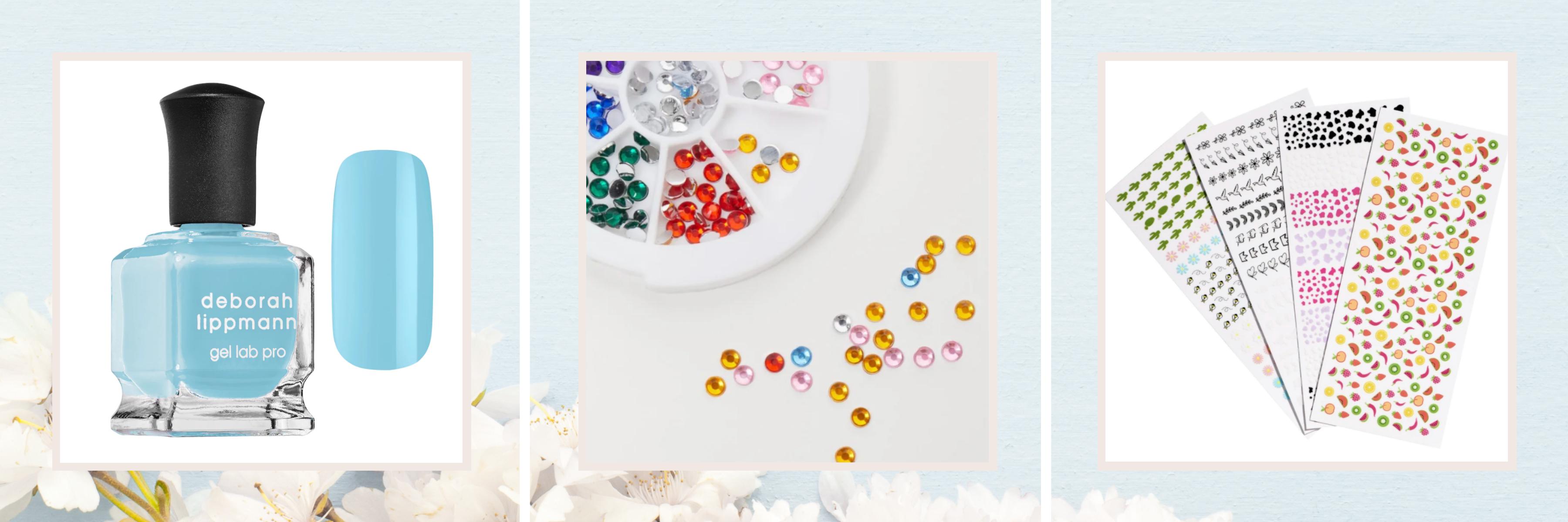Nail polish, nail jewels & nail stickers