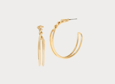 Gold Knotted hoop earring